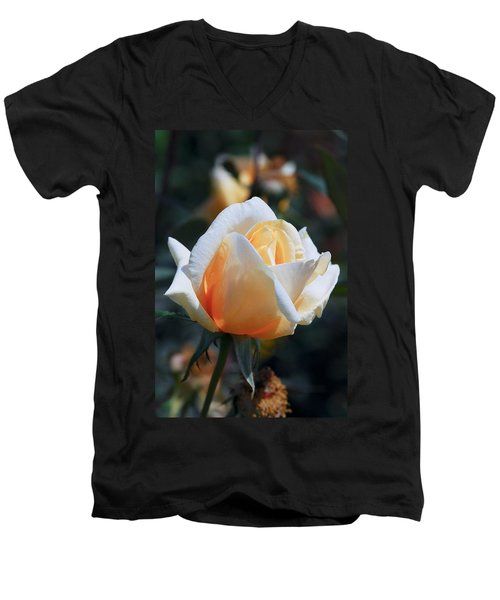 Men's V-Neck T-Shirt featuring the photograph The Rose by Fotosas Photography