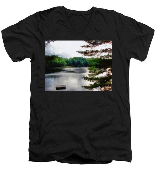 The Swimming Dock Men's V-Neck T-Shirt
