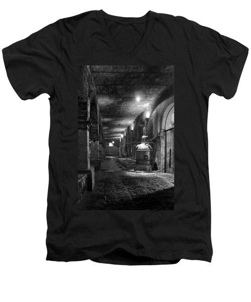 The Tequilera No. 2 Men's V-Neck T-Shirt by Lynn Palmer
