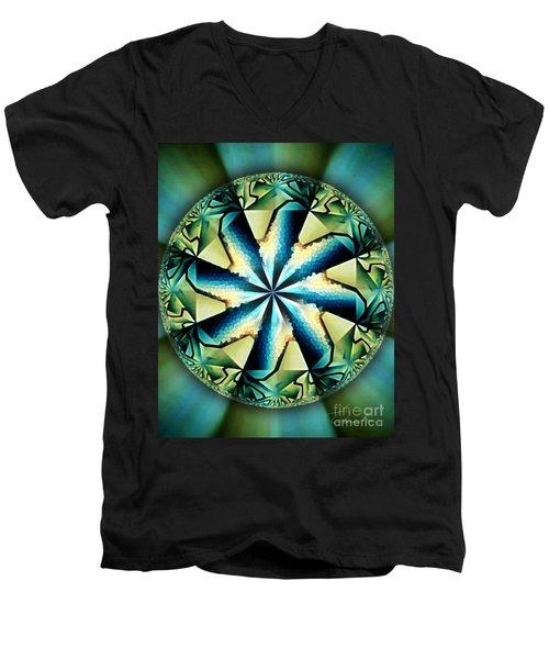 The Waves Of Silk Men's V-Neck T-Shirt by Danuta Bennett