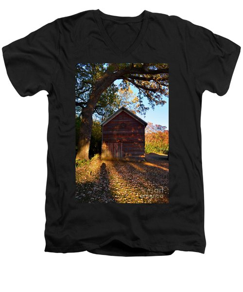 The Weathered Shed Men's V-Neck T-Shirt by Sue Stefanowicz