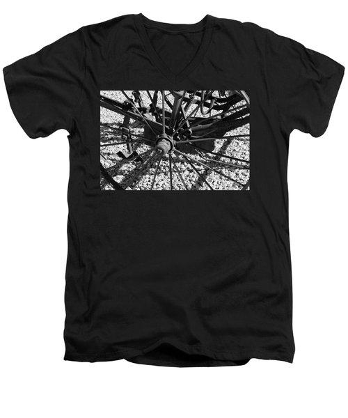 The Wheel Men's V-Neck T-Shirt by Pamela Walrath