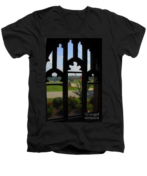 Through The Chapel Arches Men's V-Neck T-Shirt by Cindy Manero