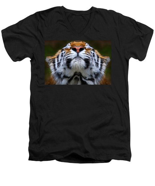 Tiger 1  Men's V-Neck T-Shirt