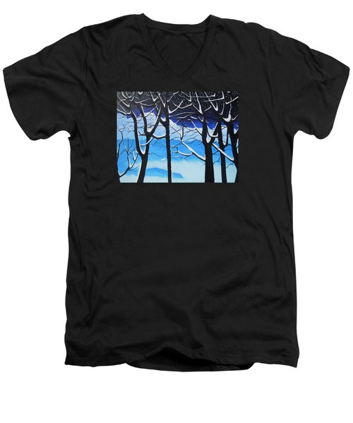 Tis The Season Men's V-Neck T-Shirt by Dan Whittemore