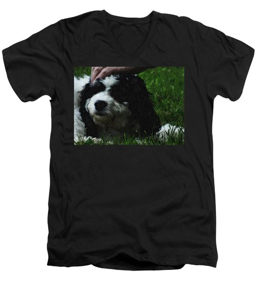 Men's V-Neck T-Shirt featuring the photograph TLC by Lydia Holly