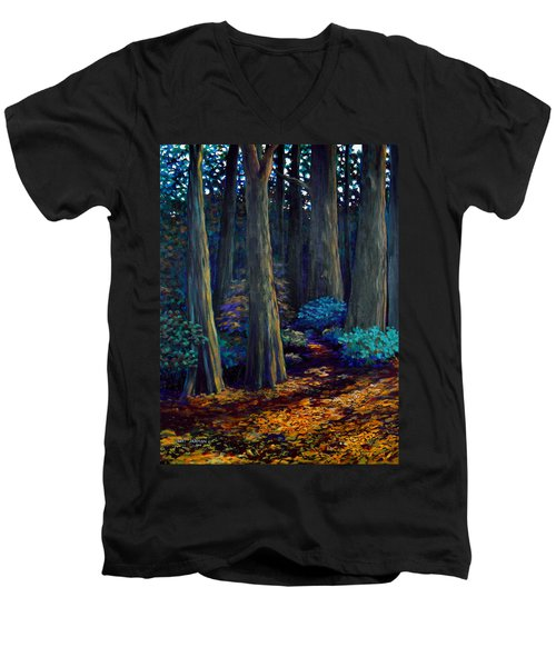 To The Woods Men's V-Neck T-Shirt by Jeanette Jarmon