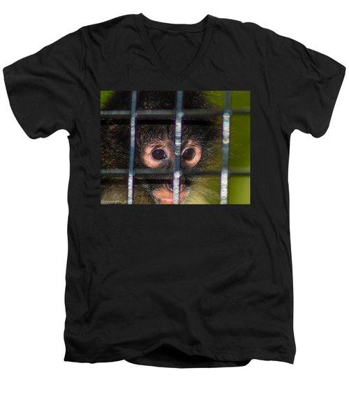 Trapped Men's V-Neck T-Shirt by Shannon Harrington