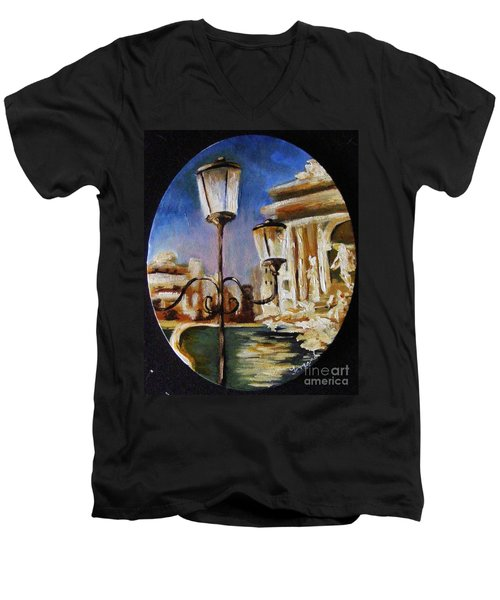 Trevi Fountain Men's V-Neck T-Shirt