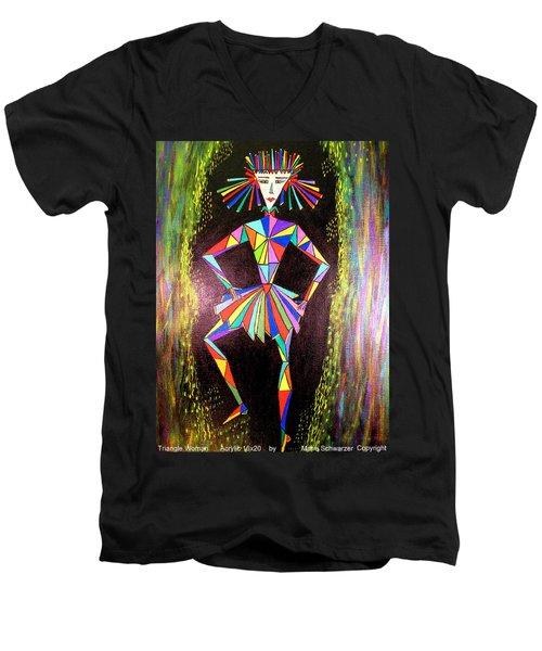 Triangle Woman Men's V-Neck T-Shirt