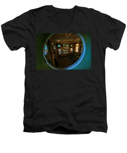 Trough The Round Window Men's V-Neck T-Shirt by Nathan Wright