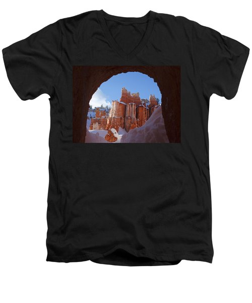 Tunnel In The Rock Men's V-Neck T-Shirt