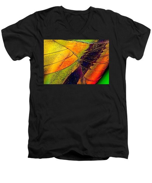 Men's V-Neck T-Shirt featuring the photograph Turning Purple  by David Pantuso