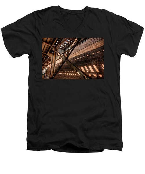 Under The L Tracks Men's V-Neck T-Shirt
