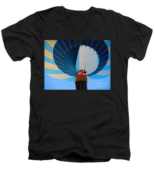 Men's V-Neck T-Shirt featuring the photograph Up Into The Blue. Oshkosh 2012. by Ausra Huntington nee Paulauskaite