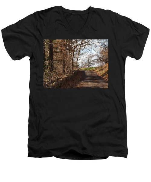 Up Over The Hill Men's V-Neck T-Shirt