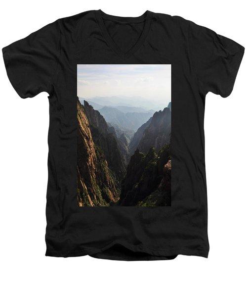 Valley In Huangshan Men's V-Neck T-Shirt