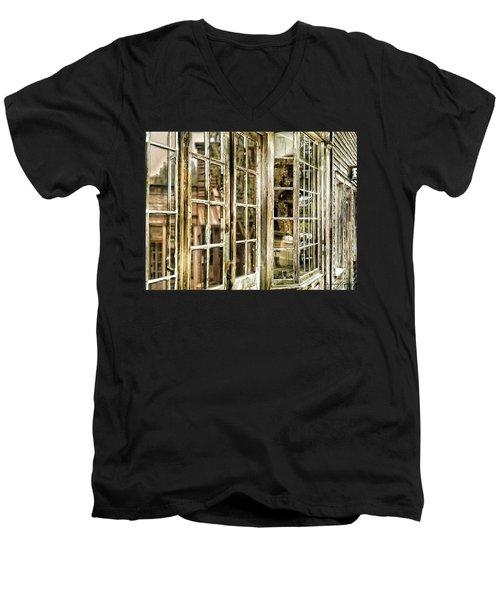 Vc Window Reflection Men's V-Neck T-Shirt
