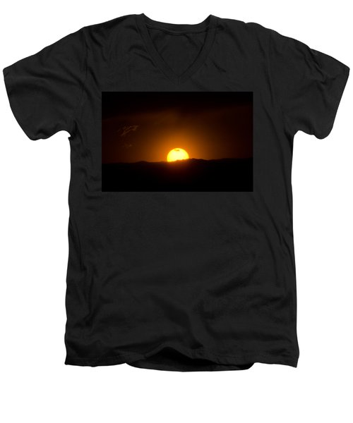 Venus Transit Setting Over The Rocky Mountains Men's V-Neck T-Shirt