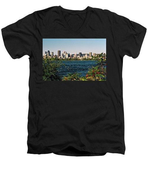 Men's V-Neck T-Shirt featuring the photograph Ville De Montreal by Juergen Weiss