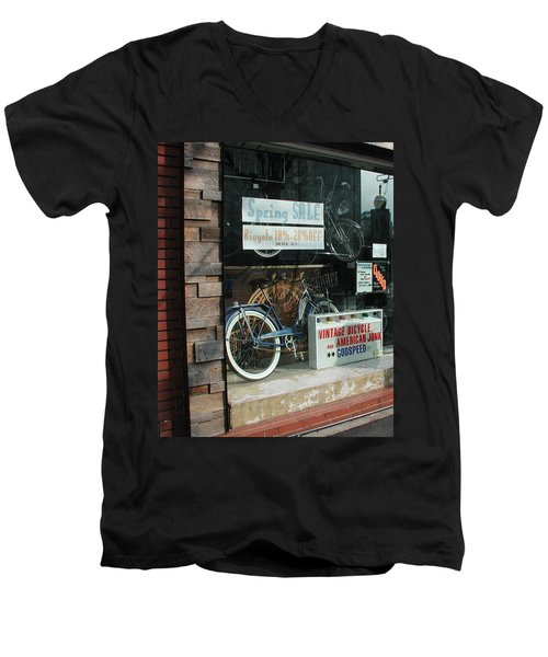 Vintage Bicycle And American Junk  Men's V-Neck T-Shirt