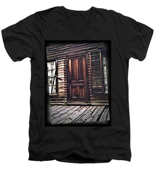 Virginia City Ghost Town Door I Men's V-Neck T-Shirt