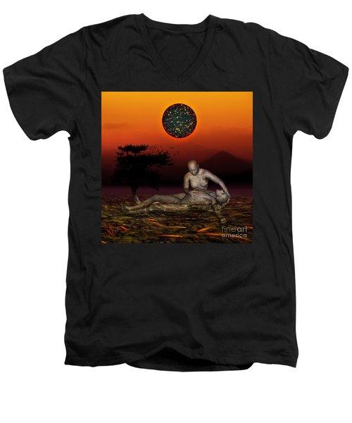 Volcanos Pieta Men's V-Neck T-Shirt