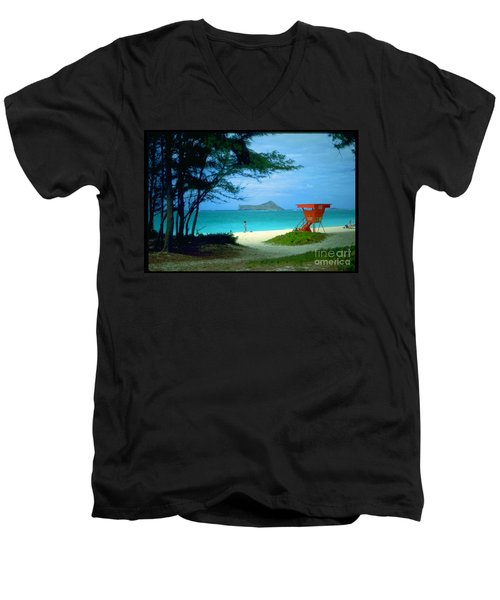 Waimanalo Men's V-Neck T-Shirt