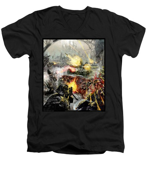 Wars Are Designed To Destroy  Men's V-Neck T-Shirt by Tony Koehl