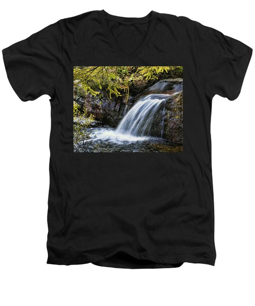 Men's V-Neck T-Shirt featuring the photograph Waterfall by Hugh Smith