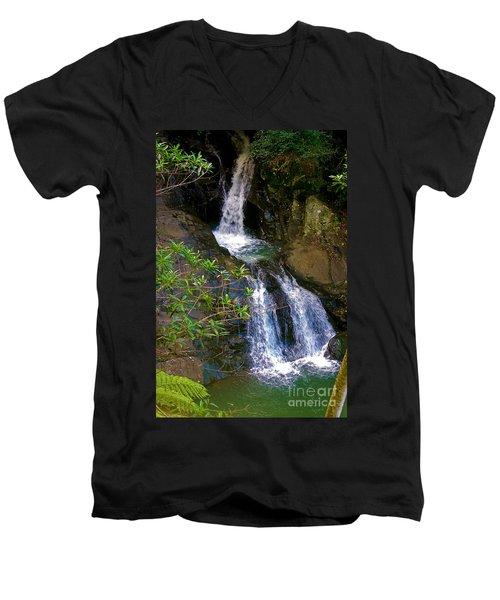 Waterfall In The Currumbin Valley Men's V-Neck T-Shirt