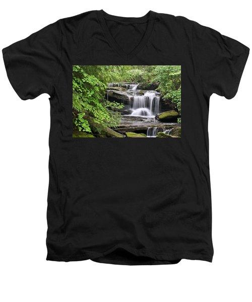 Waterfall Near Mabbitt Spring Men's V-Neck T-Shirt