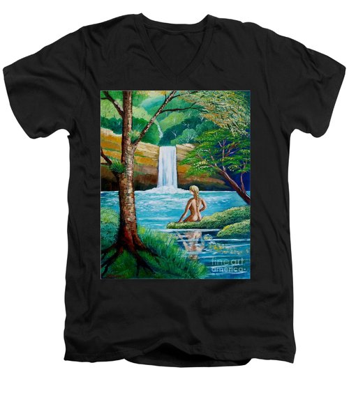 Waterfall Nymph Men's V-Neck T-Shirt