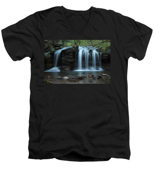 Waterfall On Flat Fork Men's V-Neck T-Shirt