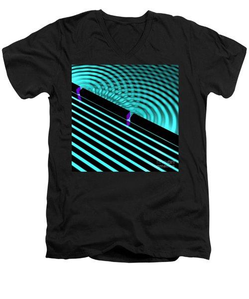 Waves Two Slit 4 Men's V-Neck T-Shirt