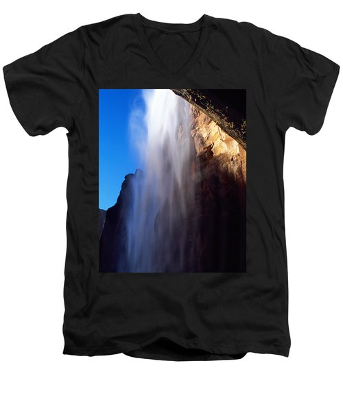Weeping Rock Waterfall Men's V-Neck T-Shirt