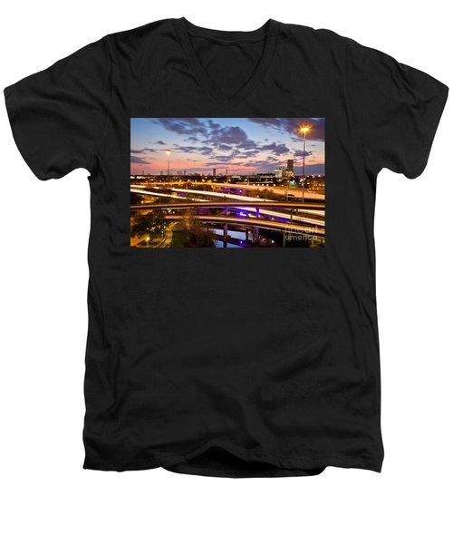 West Houston Around Dowtown Men's V-Neck T-Shirt