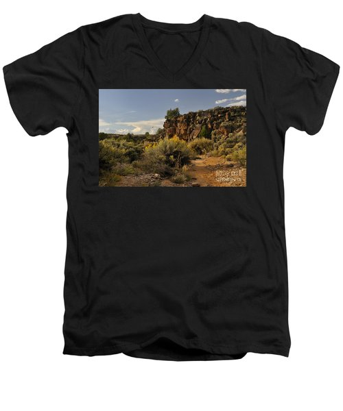 Westward Across The Mesa Men's V-Neck T-Shirt