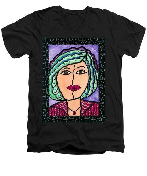 What Lies Beneath Men's V-Neck T-Shirt by Vickie G Buccini