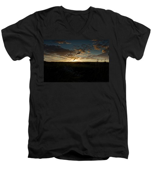 Wheat Fields  Men's V-Neck T-Shirt