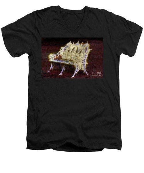 White Bench Men's V-Neck T-Shirt