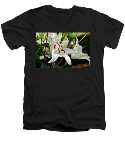 Mother's Day  Lilies  Men's V-Neck T-Shirt