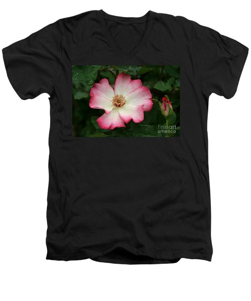 Men's V-Neck T-Shirt featuring the photograph Windmill by Living Color Photography Lorraine Lynch
