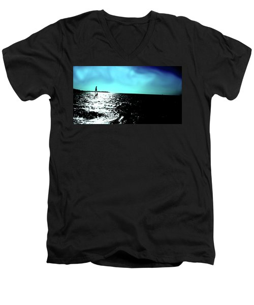 Windsurfing Greece Men's V-Neck T-Shirt