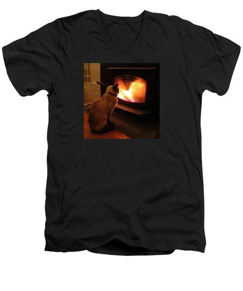 Winter Warmth Men's V-Neck T-Shirt