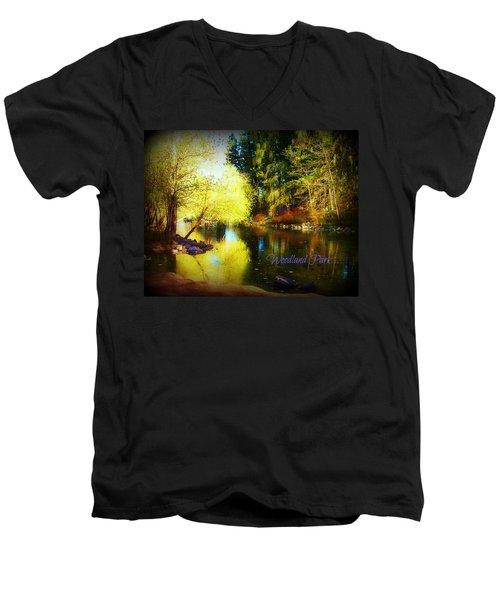 Woodland Park Men's V-Neck T-Shirt