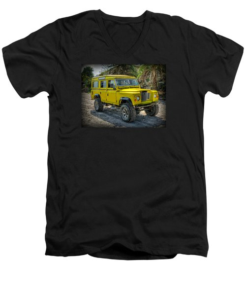 Yellow Jeep Men's V-Neck T-Shirt