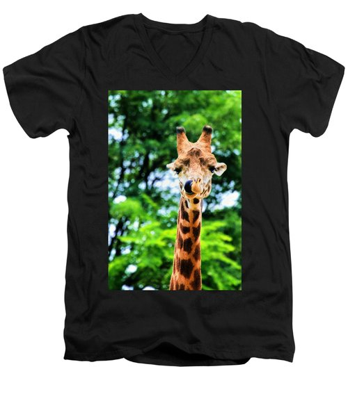 Yum Sllllllurrrp Men's V-Neck T-Shirt by Angela Rath