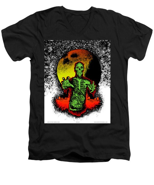 Zombie Men's V-Neck T-Shirt