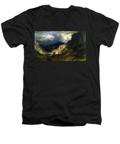 A Storm In The Rocky Mountains Mt. Rosalie Men's V-Neck T-Shirt